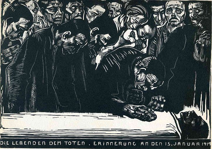 Käthe Kollwitz, Memorial Sheet of Karl Liebknecht, 1919-1920