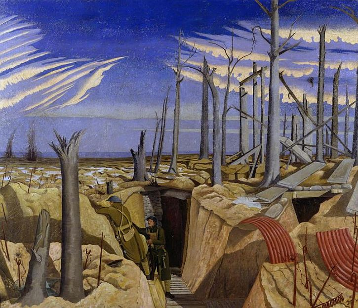 Oppy Wood, 1917. Evening by John Nash