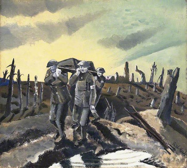 Paul Nash, Wounded, Passchendaele, 1918