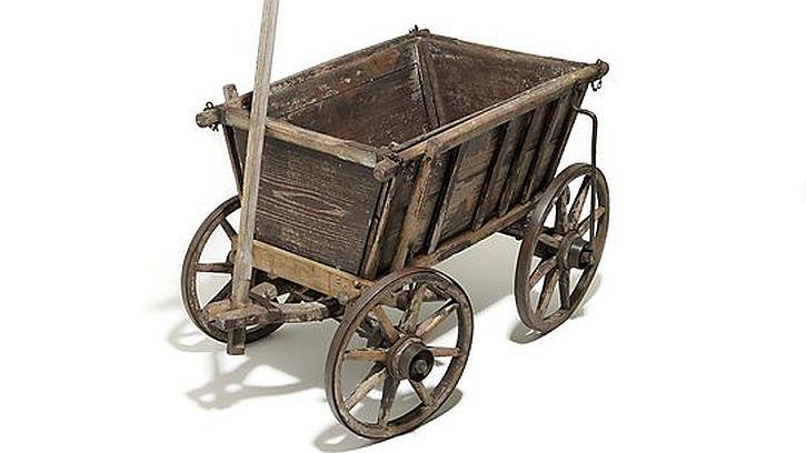 refugee cart 1945