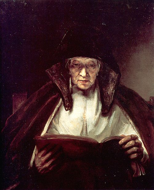Rembrandt, An Old Woman Reading, 1655