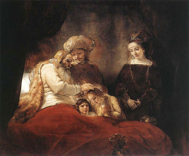 Rembrandt, Jacob Blessing the Sons of Joseph, 1656