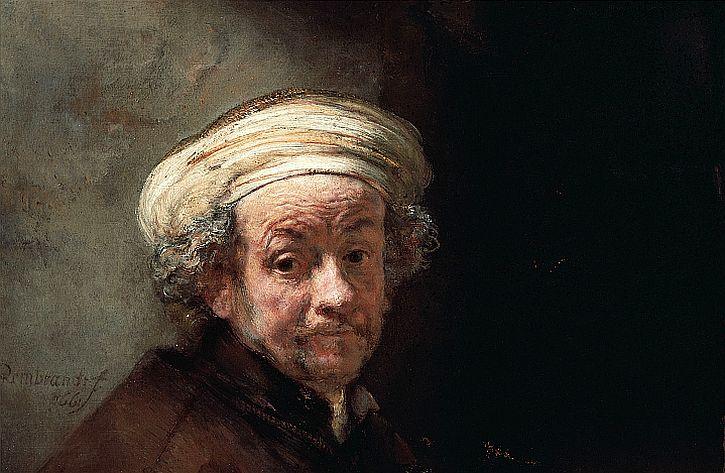 Rembrandt, Self Portrait as the Apostle Paul (detail)