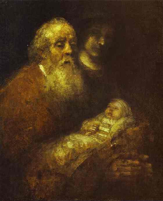 Rembrandt, Simeon with the Infant Christ in the Temple, c 1669