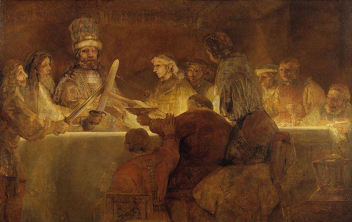 Rembrandt, The Conspiracy of the Batavians under Claudius Civilis, 1661