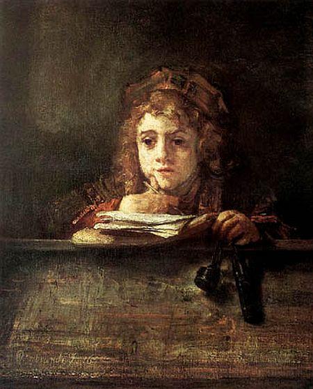 Rembrandt, Titus at His Desk, 1655