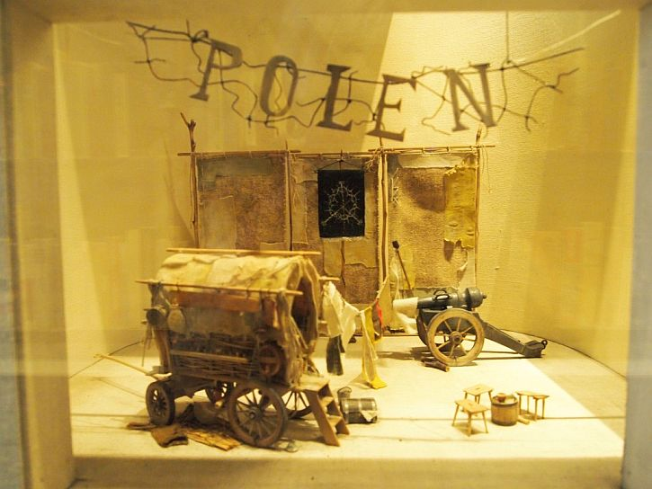 "Stage Set model for ""Mother Courage"" by Bertold Brecht"
