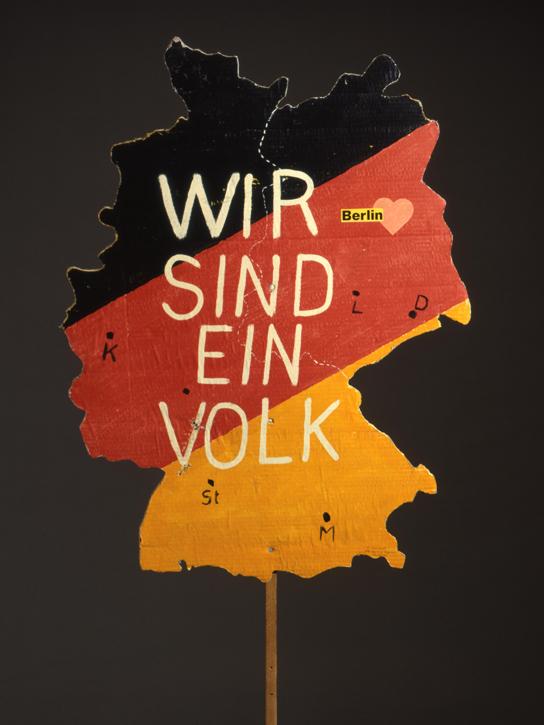 Wir sind ein Volk placard, East Germany, 1990