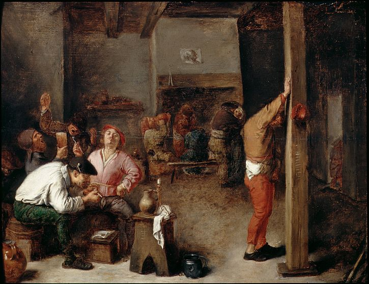 Adriaen Brouwer, Interior of a Tavern, c1630