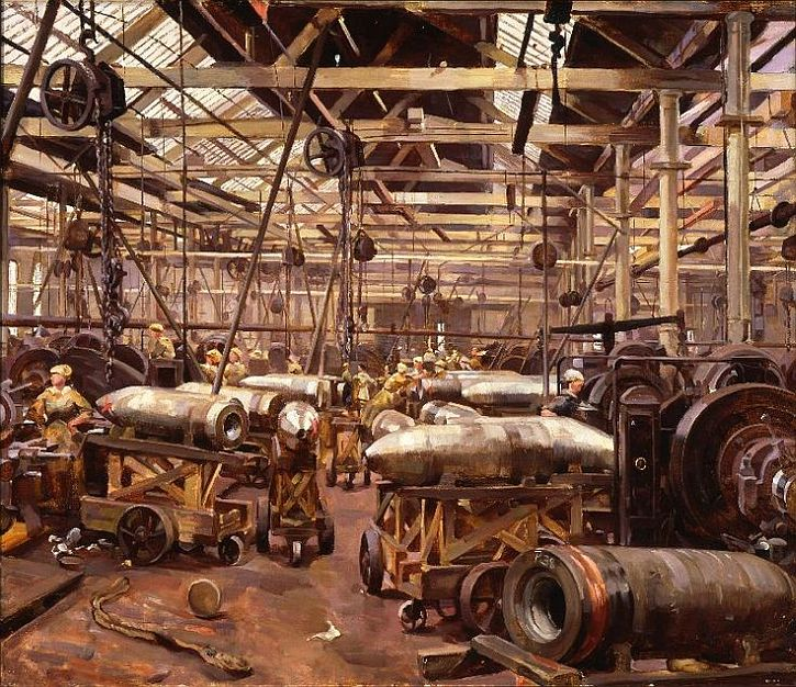 Anna Airy, Shop for Machining 15 Shells, Clydebank, 1918