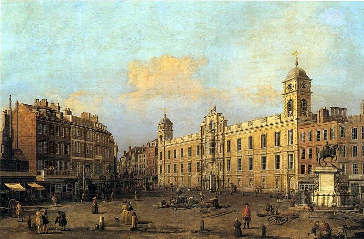 Canaletto, The Strand front of Northumberland House, 1752