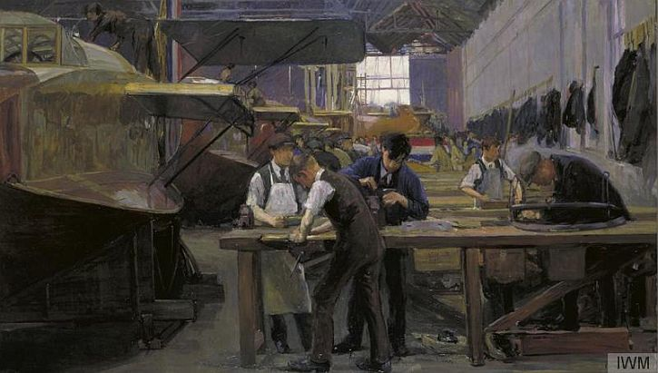 Flora Lion, Building Flying Boats, 1918