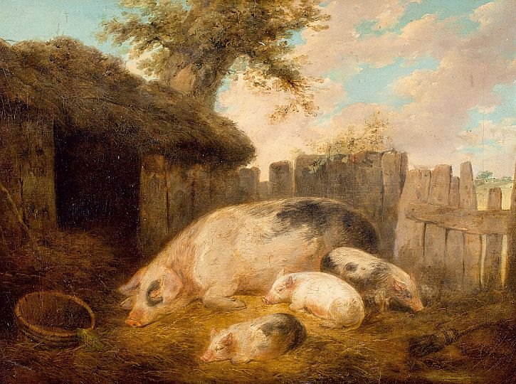 George Morland, The Pigsty,1793