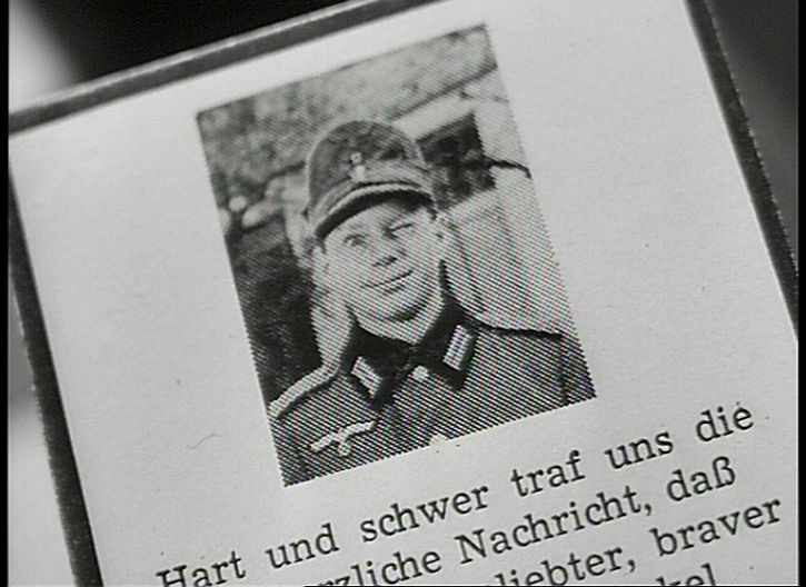 Heimat Hans' death notice. Killed in action