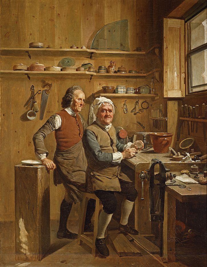 Johann Zoffany, John Cuff and his Assistant,1772