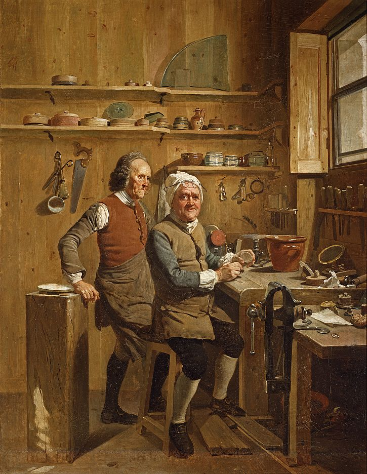 Johann Zoffany, John Cuff and his Assistant,1772