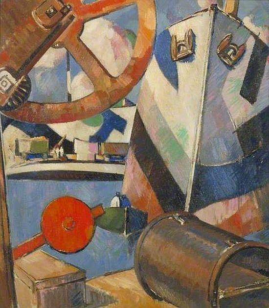 John Duncan Fergusson, Dockyard Portsmouth, 1918