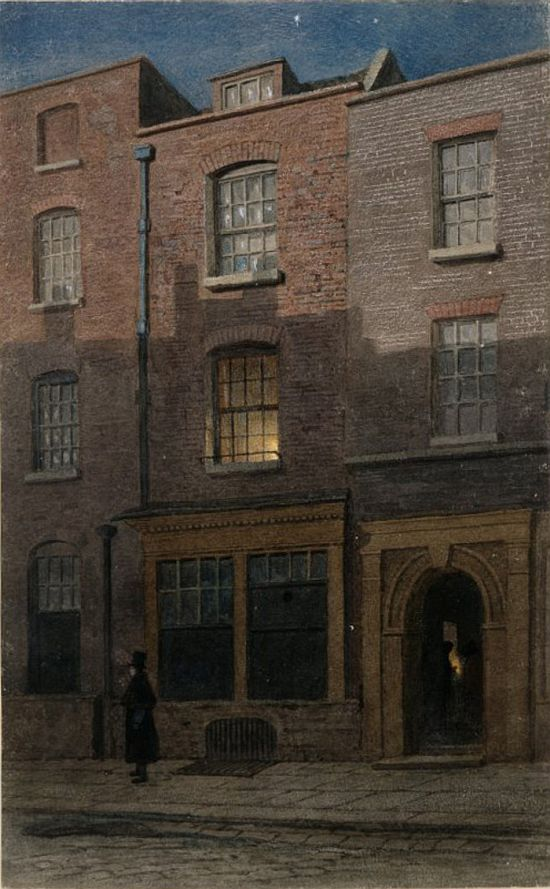 John Wykeham Archer JMW Turner's birthplace in Maiden Lane, Covent Garden, 1852