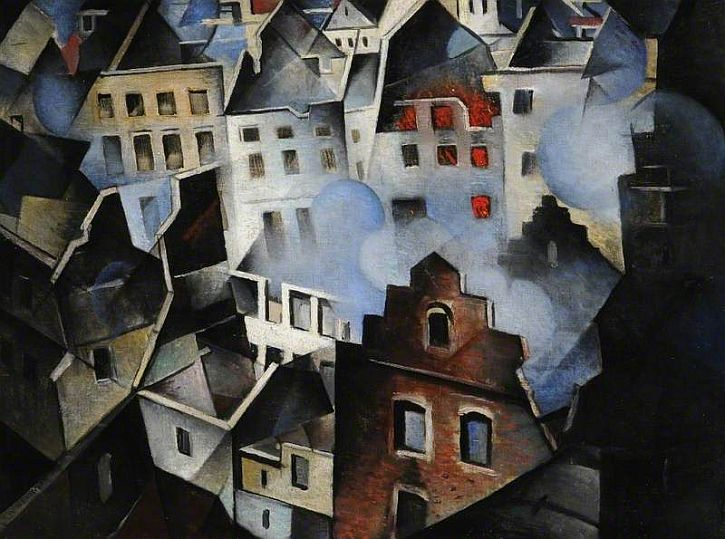 Nevinson, Ypres after the First Bombardment, 1915