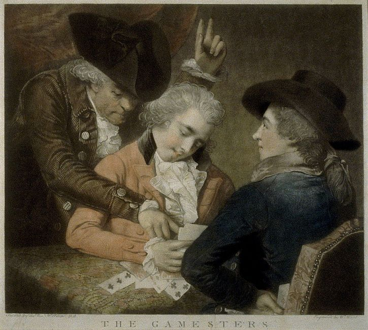 Rev MW Peters, The Gamesters, 1786