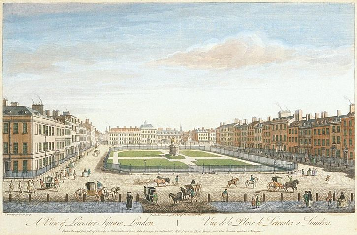Thomas Bowles, A View of Leicester Square, 1753