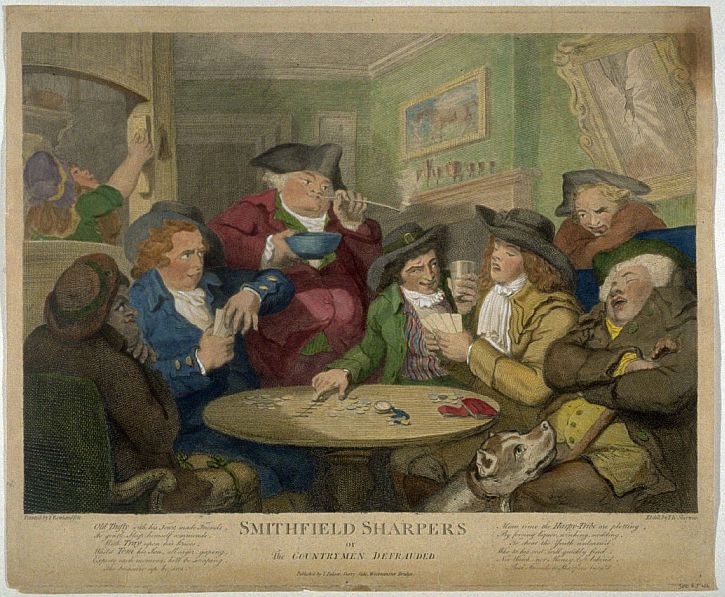 Thomas Rowlandson, Smithfield Sharpers, 1787