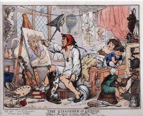 Thomas Rowlandson,  The Chamber of Genius, 1812