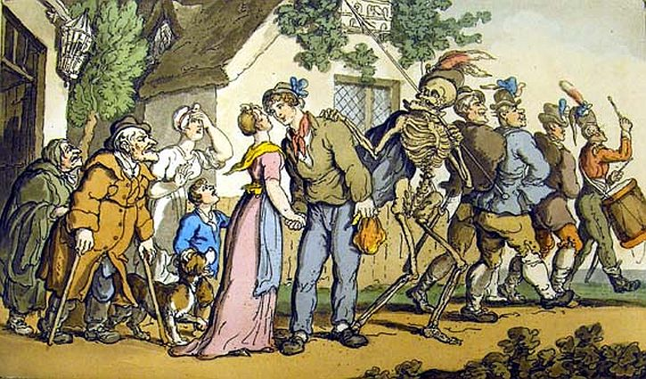 Thomas Rowlandson, The Recruiting Party from The English Dance of Death, 1816