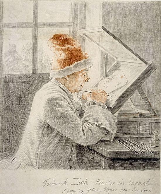 William Hoare, Christian Frederick Zincke, 1752
