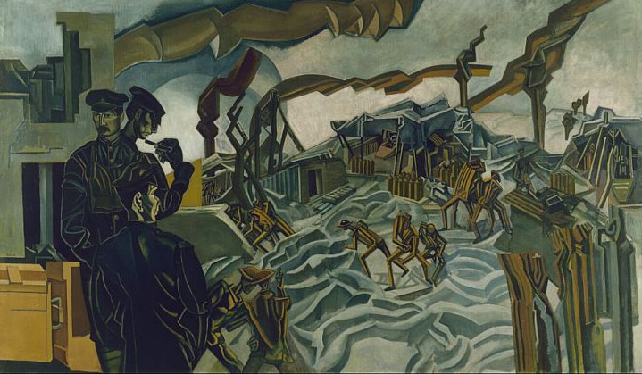 Wyndham Lewis, A Battery Shelled, 1919