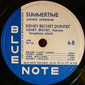 Blue Note Bechet Summertime