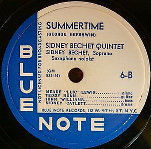 Blue Note Bechet Summertime