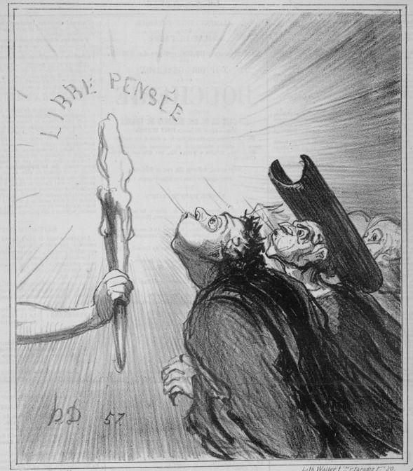 Honoré Daumier, Répétition générale du concile, 1869