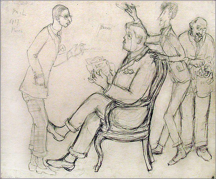 Igor Stravinsky, Serge Diaghilev, Jean Cocteau, Erik Satie (dess