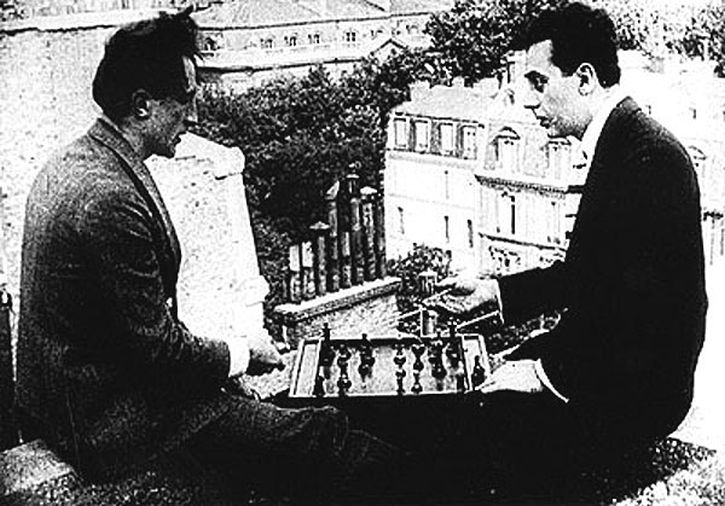 Marcel Duchamp and Man Ray in René Clair's 1924 film Entr'acte