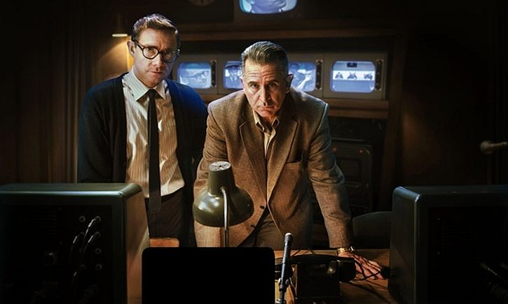 Martin Freeman and Anthony LaPaglia in The Eichmann Show