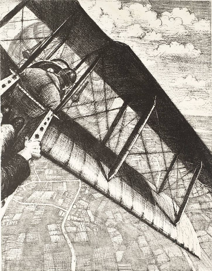 Banking at 4000 Feet 1917 by Christopher Richard Wynne Nevinson 1889-1946