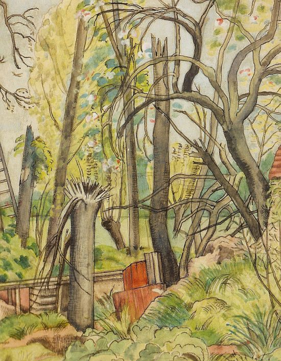 Paul Nash, Chaos Decoratif, 1917, watercolour