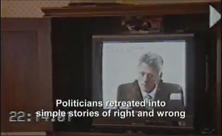 Politicians retreated into simple stories of right and wrong