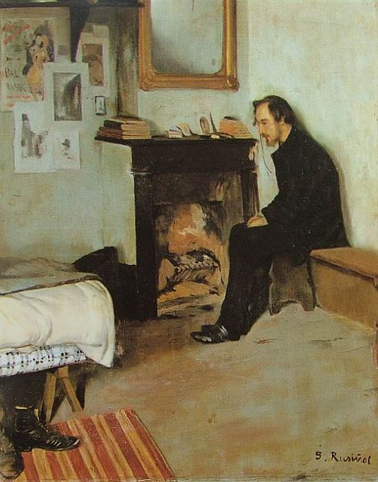 The Studio of Erik Satie by Santiago Rusinol, 1891