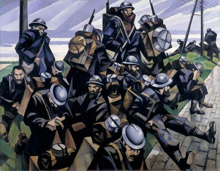 CWR Nevinson, French Troops Resting