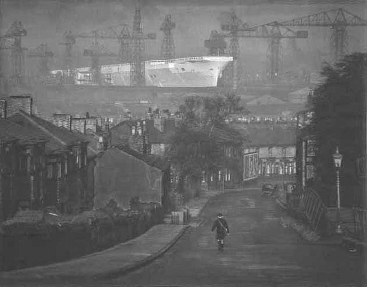 Hardman, Ark Royal, Birkenhead, 1950