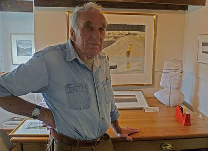 John Knapp-Fisher in his studio