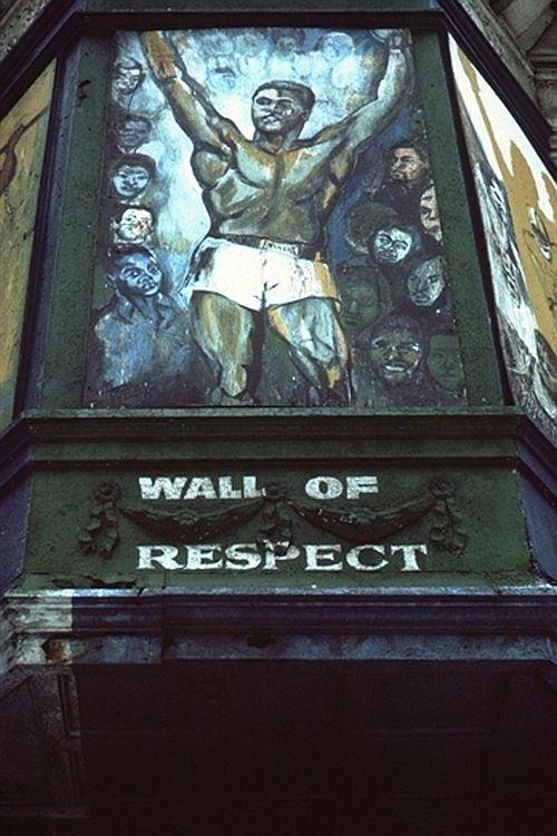 Muhammed Ali detail Wall of Respect
