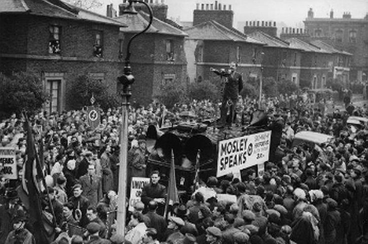 Oswald Mosley, 1 May 1948 anti-Communist rally in Dalston, East London