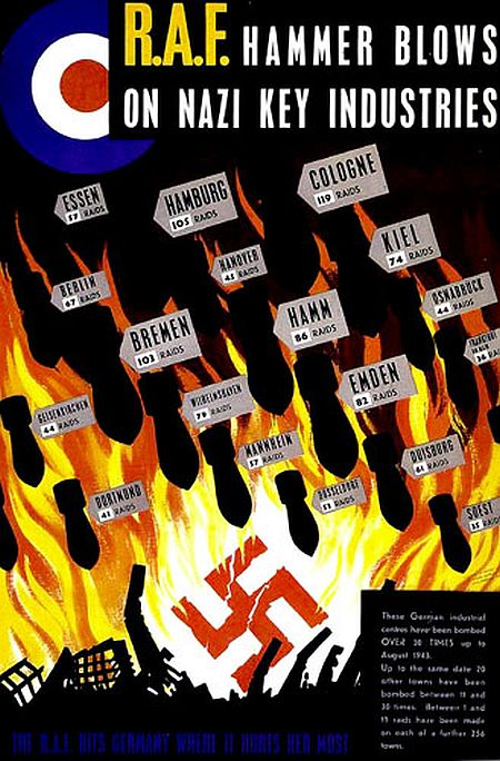 RAF Hammer Blows on Nazi Key Industries poster