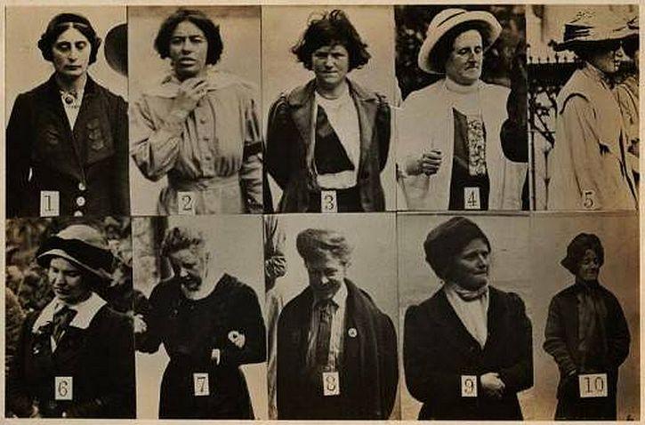 Scotland Yard surveillance images of suffragettes, 1912