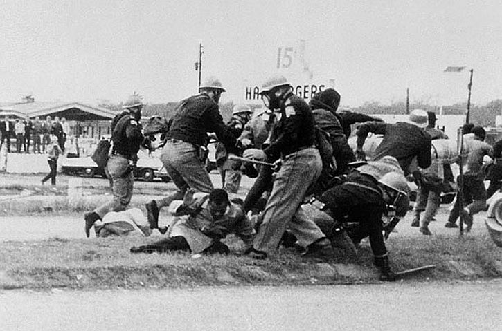 Selma march Bloody Sunday Officers beating the people from the march