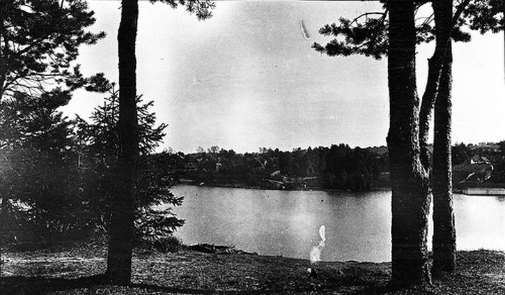 The lake below Edith Sodergran's house in Raivola
