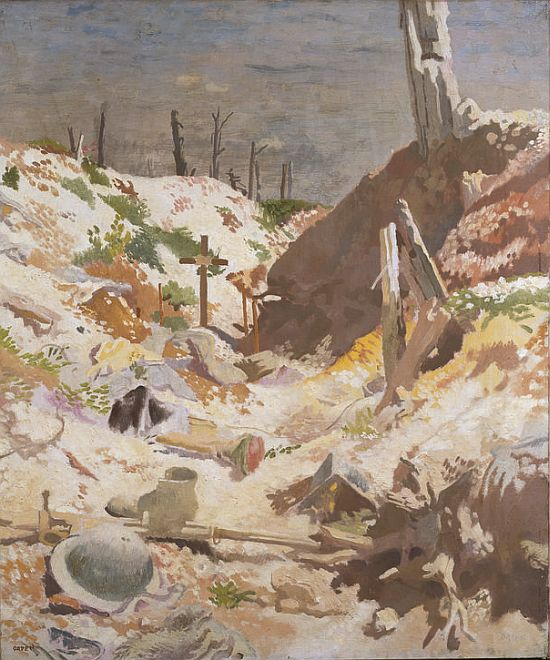 William Orpen, A Grave in a Trench, 1917